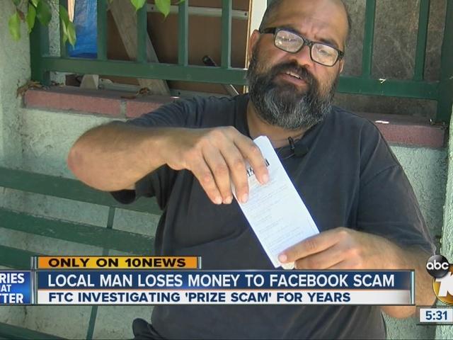 Local man loses money to Facebook scam