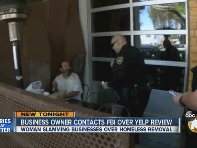 Woman slamming Hillcrest businesses over homeless removal