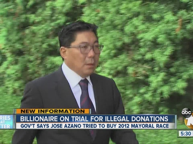 Billionaire on trial for illegal donations