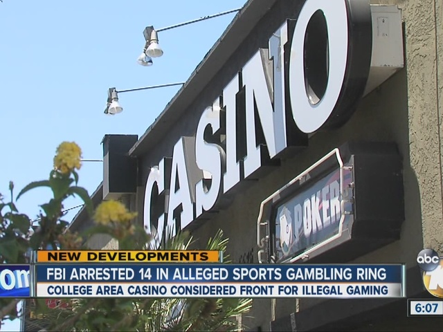 FBI arrested 14 in alleged sports gambling ring