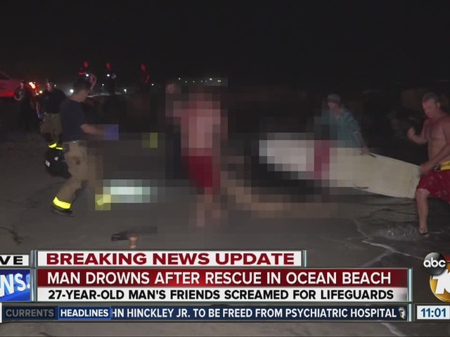 Swimmer dies after being pulled from water off Ocean Beach