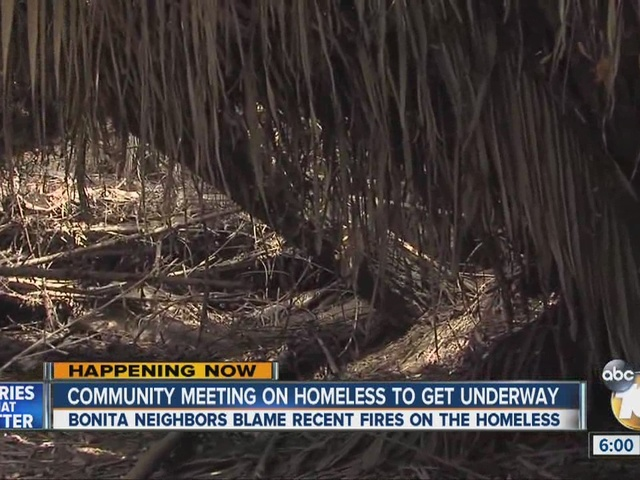 Bonita neighbors blame recent fires on the homeless