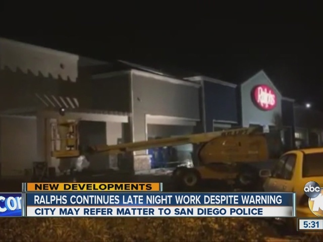 Ralphs continues late night work despite warning