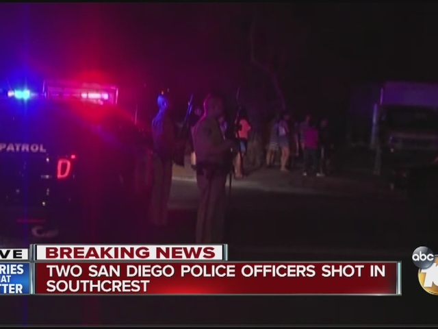Two San Diego police officers shot in Southcrest