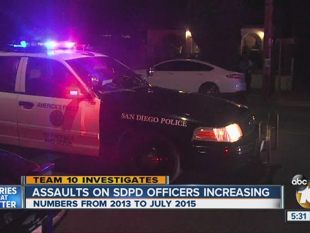 Data shows assaults on San Diego police officers increasing in recent years