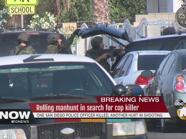Rolling manhunt in search for cop killer