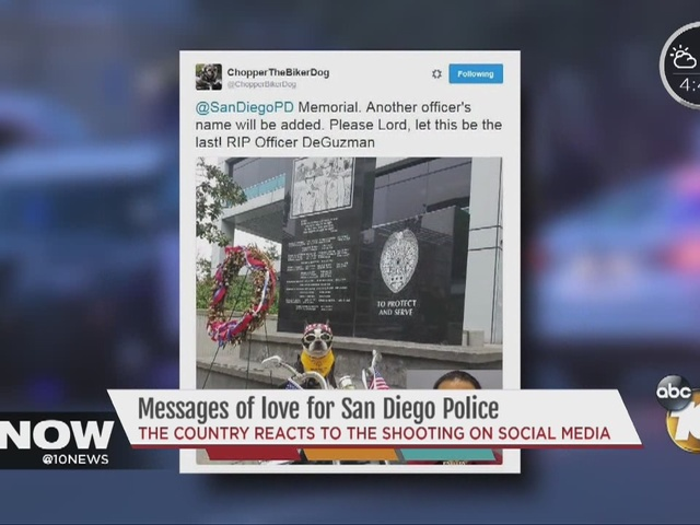 Social media reacts to SDPD officer killed