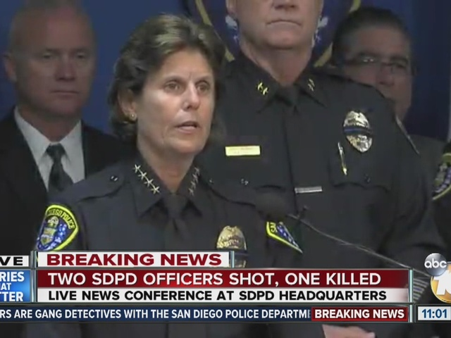 Two SDPD officers shot, one killed