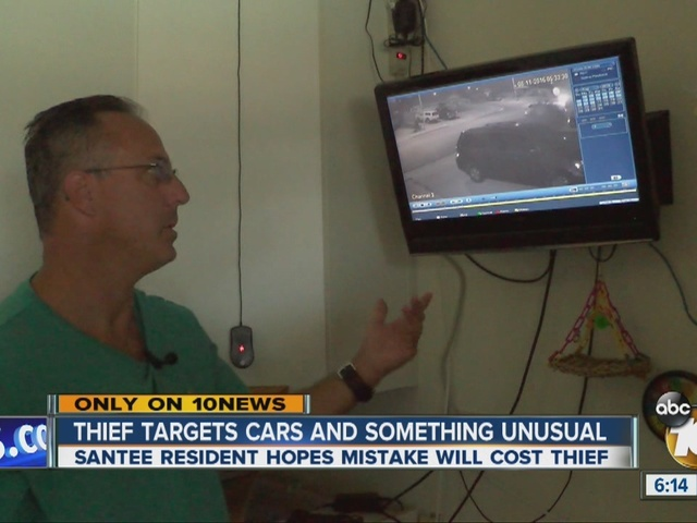 Thief Prowls Santee Neighborhood Targets Cars And Camera