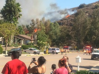 Fire in Spring Valley 80 percent contained