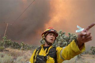 Wildfire risk: Santa Anas, low humidity, heat