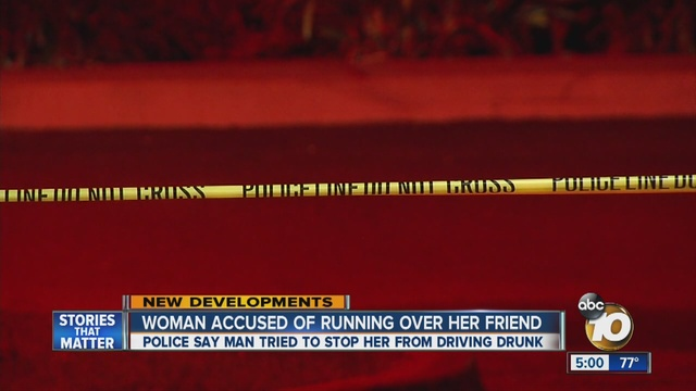 Man run over trying to stop woman from leaving birthday party