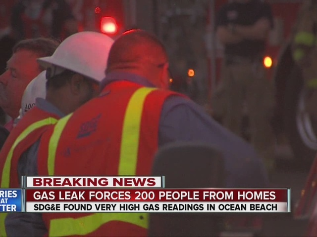 200 Ocean Beach residents still out of homes due to gas leak