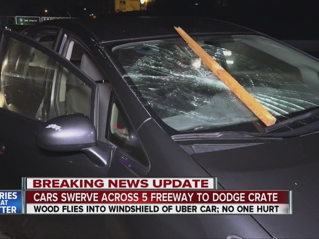 Fallen wooden crate creates havoc on I-5 in Old Town