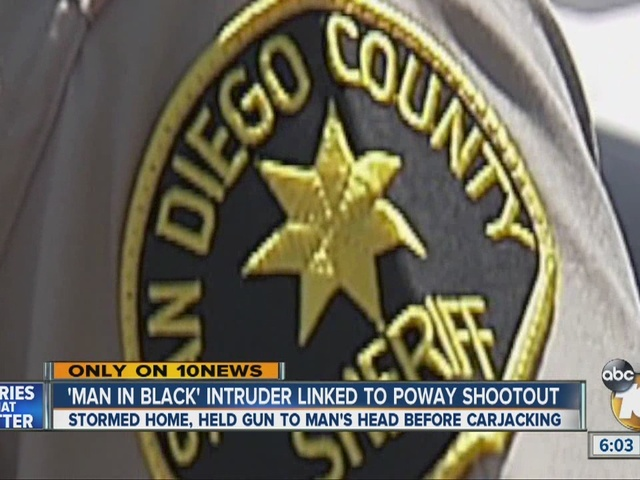 'Man in black' linked to Poway shootout