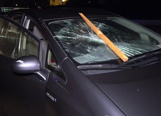 Wooden crate creates havoc on I-5 in Old Town