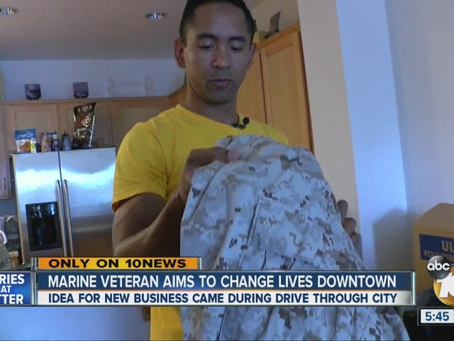 Marine veteran aims to change lives downtown