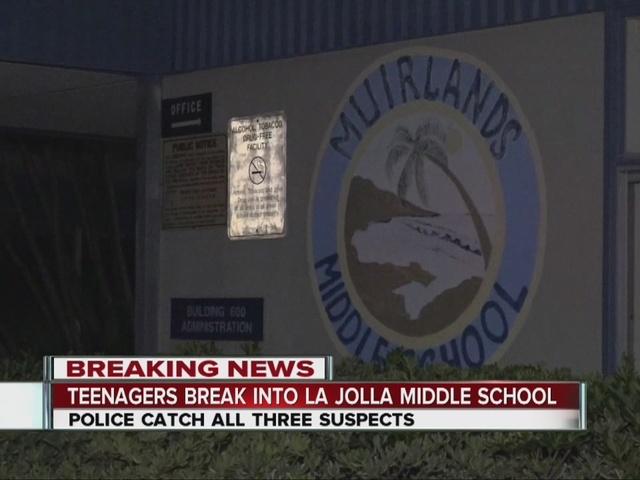 Teens captured after break in at La Jolla school