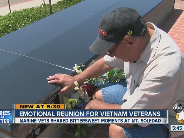 Group of Vietnam veterans reunite for ceremony at Mount Soledad