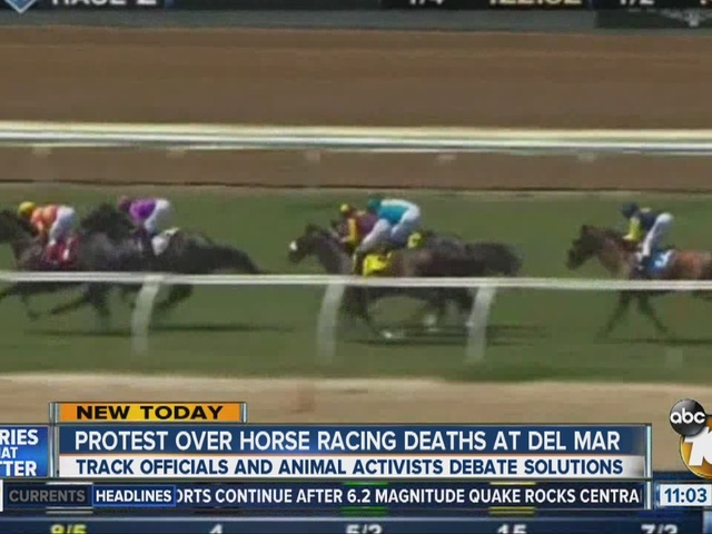 Protest over horse racing deaths at Del Mar