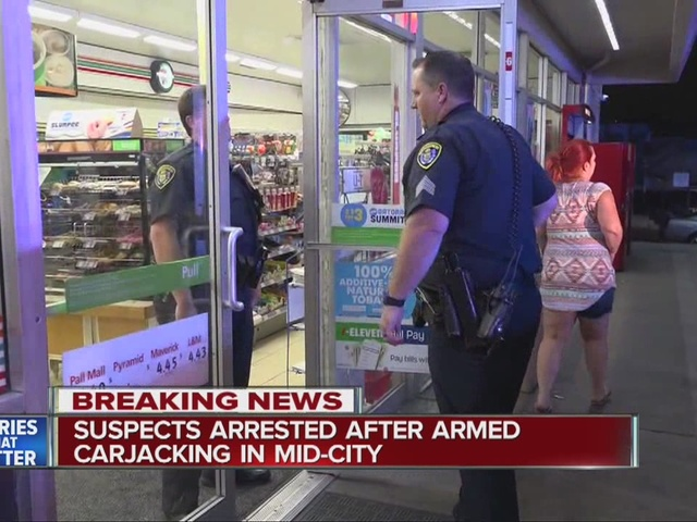 Two suspects captured in armed Mid-City carjacking