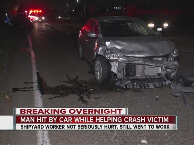 Good Samaritan struck by car while helping SR-94 crash victim