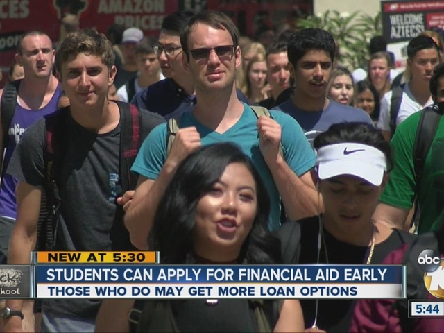 College students can apply for financial aid early