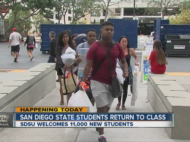 Fall classes start for SDSU, Cal State San Marcos