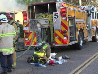 Firefighters work to save cat from Santee fire
