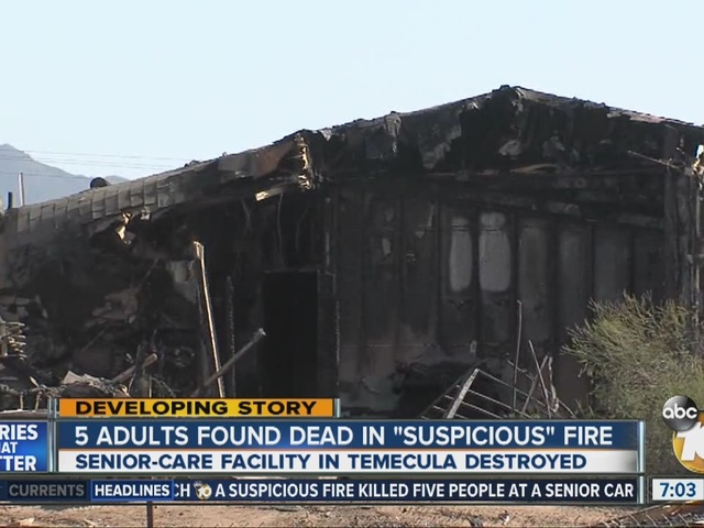 5 adults found dead in 'suspicious' fire