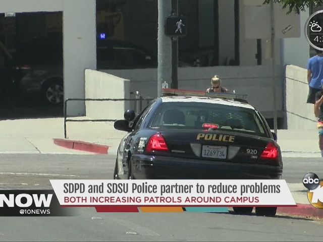 SDPD and SDSU Police partner to reduce problems