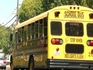 Car hits school bus & postal truck, flees scene