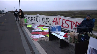 Tribe protests Navy Silver Strand construction