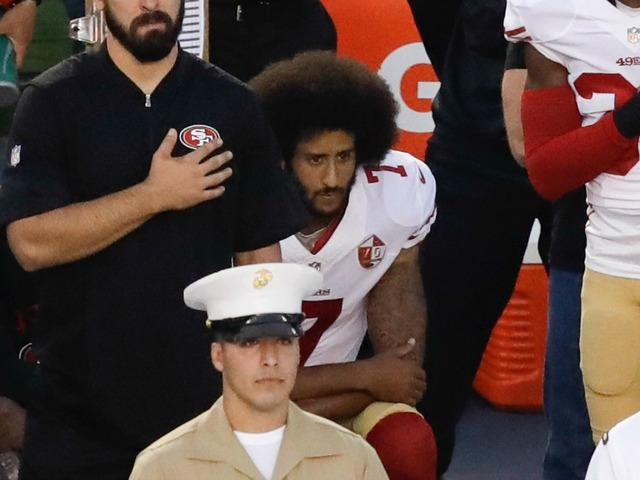 National Anthem Uproar 49ers Kaepernick Kneels During