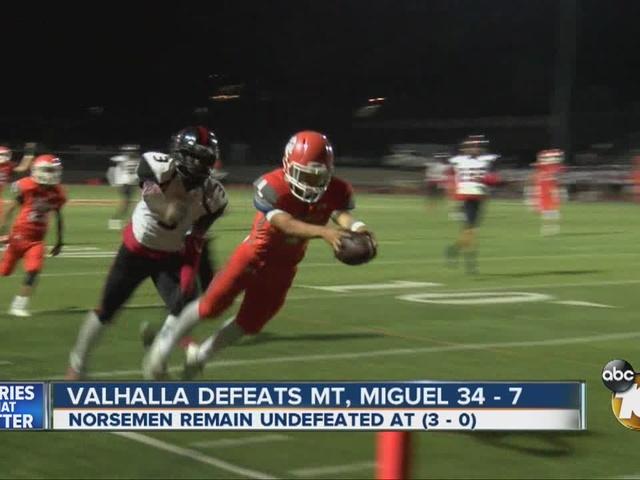 THE PRO TREATMENT: Valhalla defeats Mt. Miguel 34-7