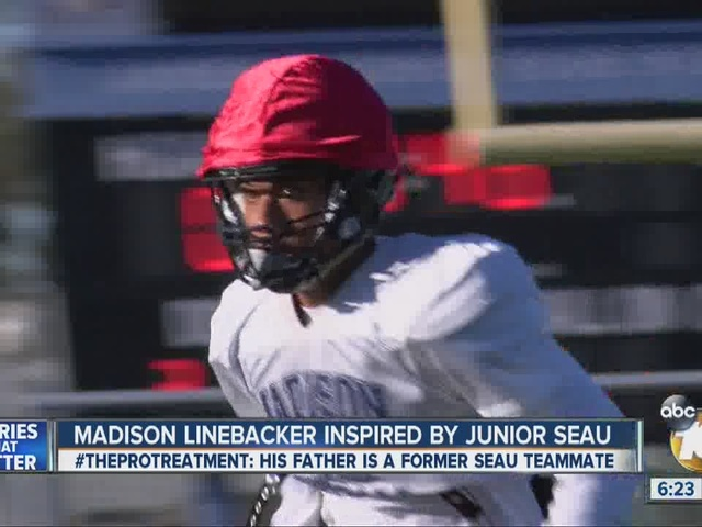 Madison High linebacker patterns game after Junior Seau