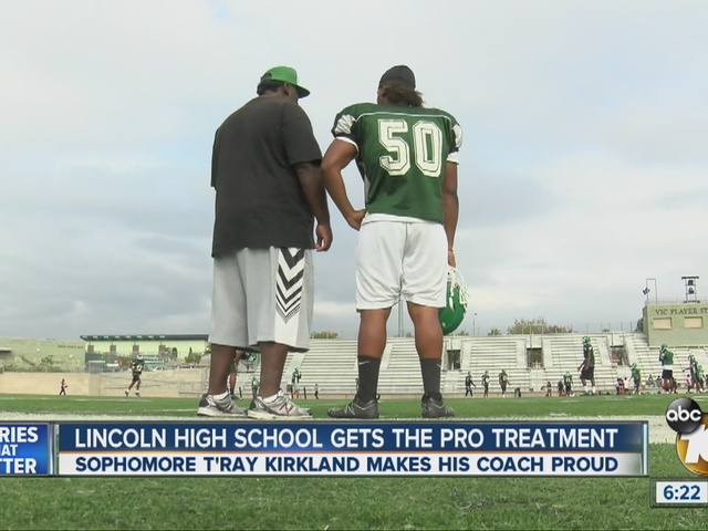 Lincoln High sophomore T'Ray Kirkland makes coach proud