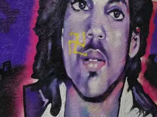 Prince mural vandalized with swastika