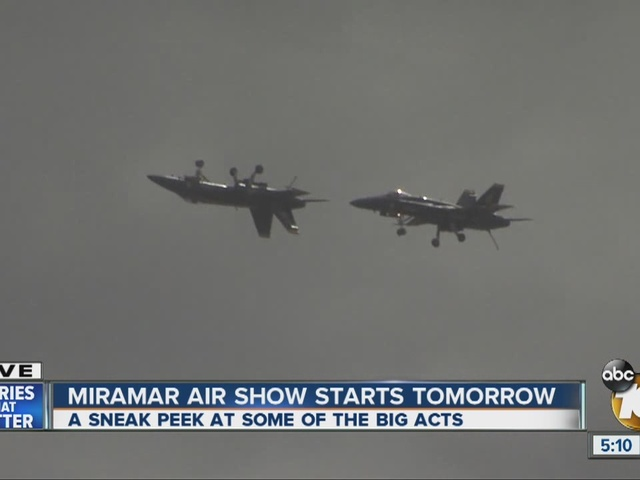 Sneak peek at big acts for Miramar Air Show