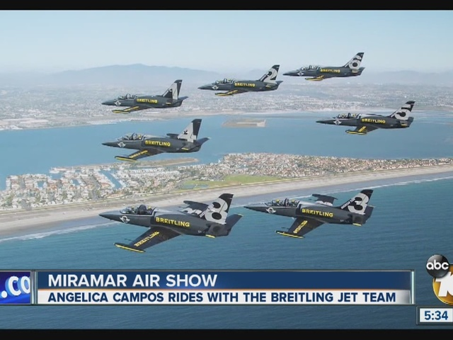 10News Meteorologist  Angelica Campos rides with Breitling Jet Team