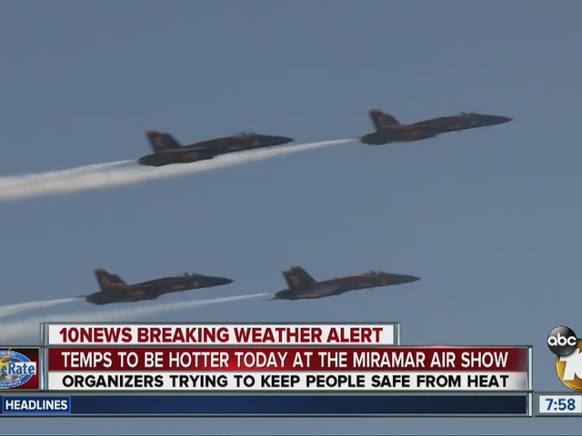 Temps to be hotter at the Miramar Air Show