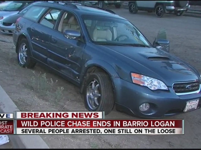 High-speed pursuit ends in wreck, arrests in Barrio Logan