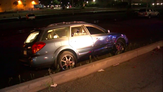 High-speed pursuit ends in wreck, arrests