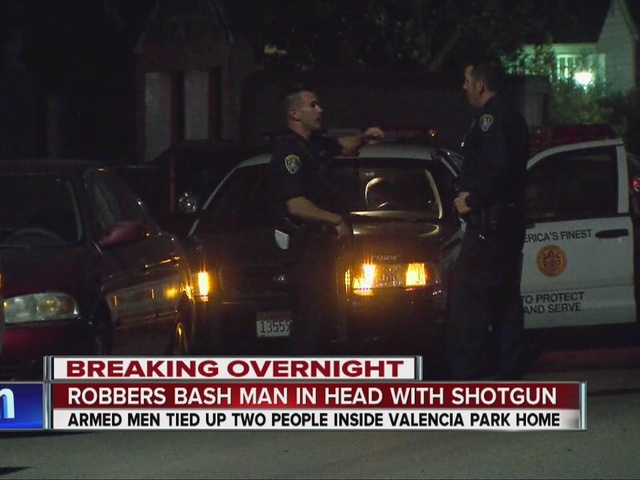 Robbers bash man in head with shotgun in Valencia Park