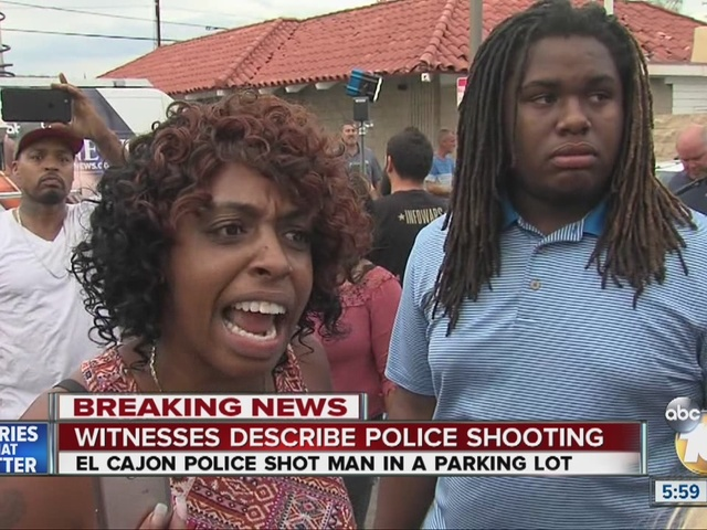 Witnesses describe police shooting in El Cajon