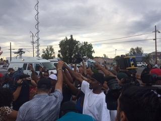 PHOTOS: Bystanders react after El Cajon shooting