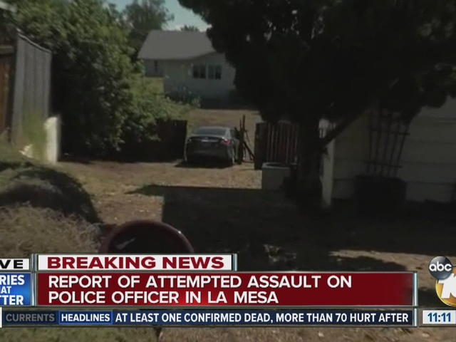 Police: Man tried assaulting La Mesa cop
