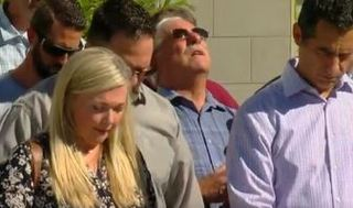 Church leaders pray outside El Cajon police HQ