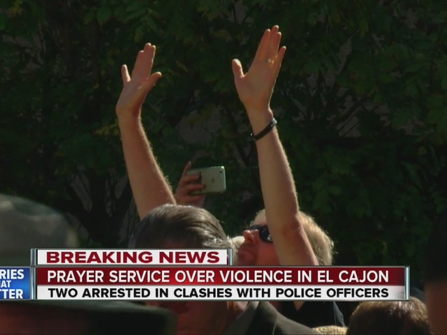 Church leaders hold prayer meeting outside El Cajon police headquarters