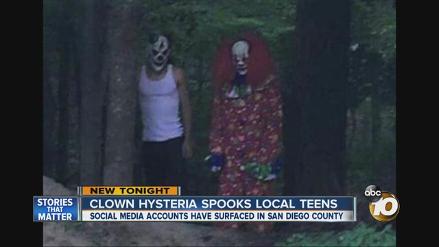 Evil Clown Hysteria Surfaces In San Diego County 10news